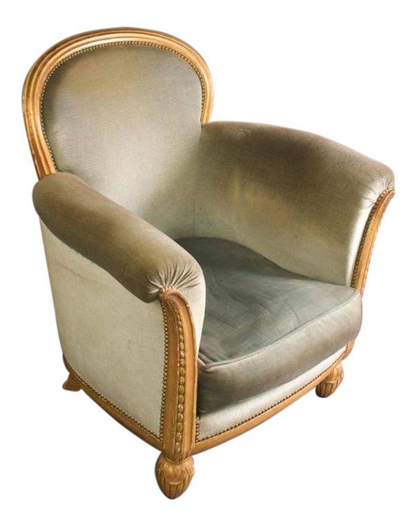 Paul Follot Single Club Chair, 1925, Paris Exhibition on DECASO.com
