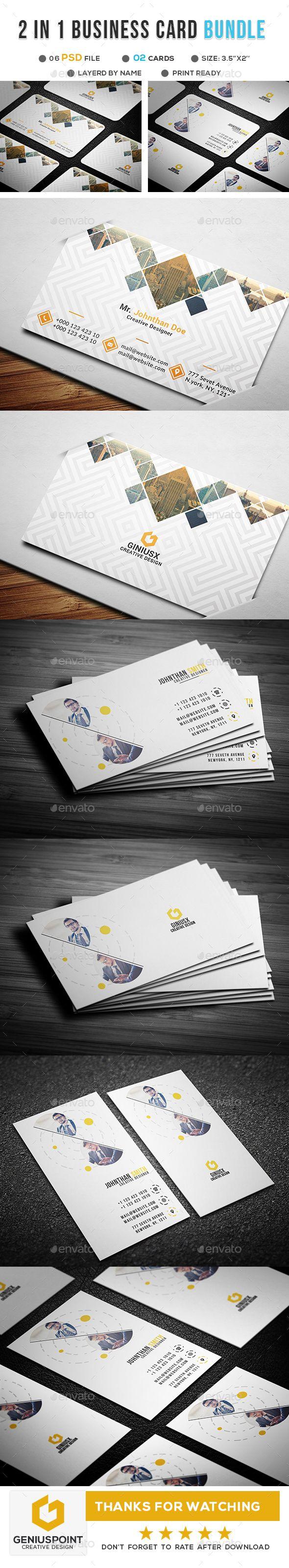 Corporate Business Card Bundle - #Business #Cards Print Templates