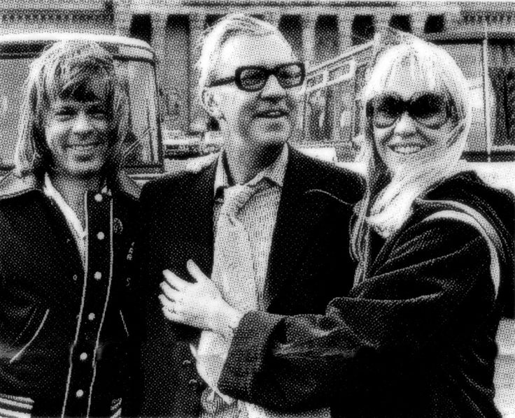 Agnetha and Bjørn with her father