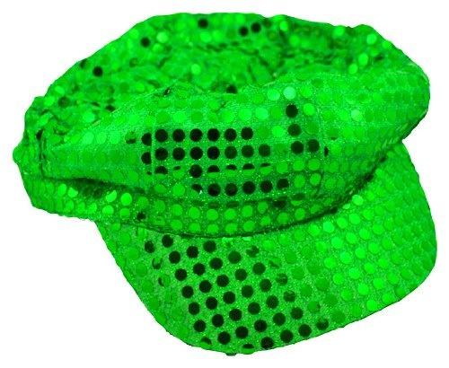 Lime Sequin Newsboy Diva Hat $5.99