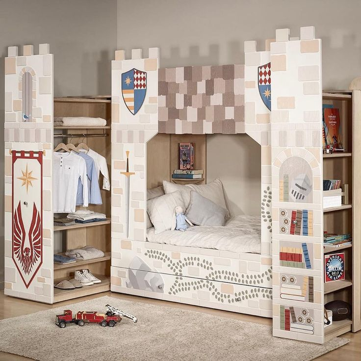 Monday's aren't so bad when you've got your own castle to wake up in Our 3 piece combo is everything you need in one tidy, beautiful package... - Young Empire - Smart Luxury Children's Furniture