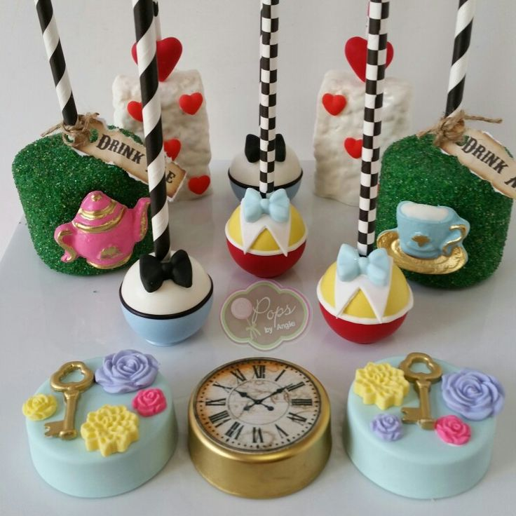 Alice in Wonderland sweets by O Pops by Angie