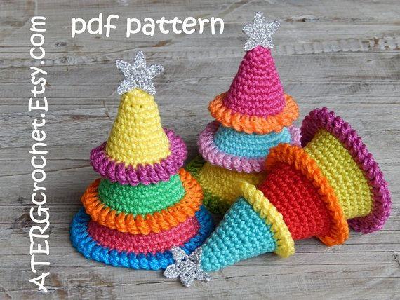 Crochet patrones árboles de Navidad por por ATERGcrochet en Etsy