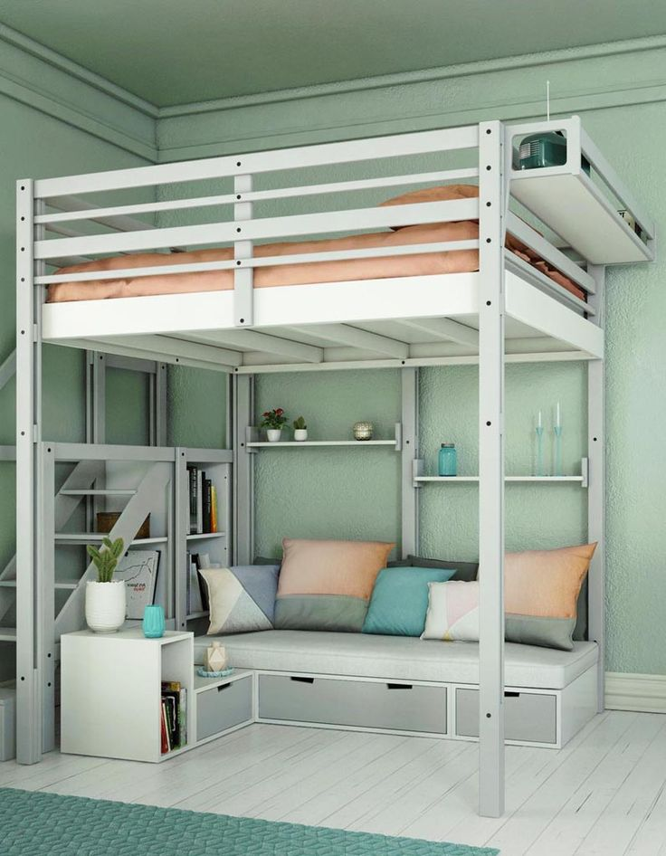 best 25 dorm loft beds ideas on pinterest college loft beds loft bed decorating ideas and. Black Bedroom Furniture Sets. Home Design Ideas