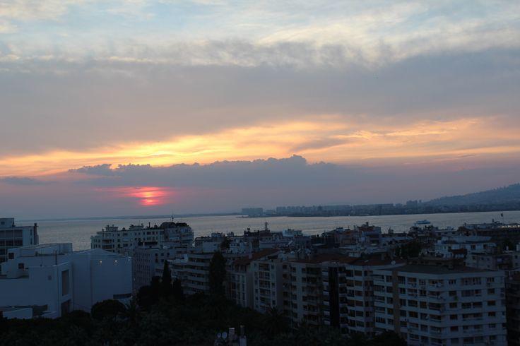 Sunset over Izmir, Turkey.