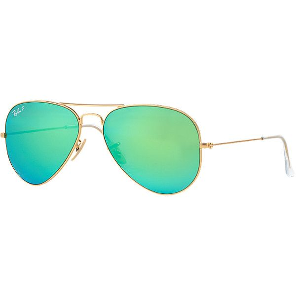 Ray-Ban Rb3025 58 Original Aviator Gold Sunglasses (275 AUD) ❤ liked on Polyvore featuring accessories, eyewear, sunglasses, glasses, gold, polarized sunglasses, ray ban eyewear, aviator glasses, ray ban sunglasses and gold glasses