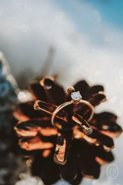 Une inspiration romance en montagne pour un mariage en hiver Image: 26
