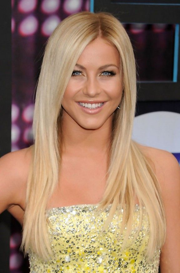 Julianne Hough – Süße, lange, blonde, strenge Frisur für dünnes Haar …