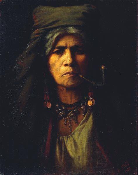 Gräfin Berta von Nákó, geb. Gyertyánffy: Eine alte Zigeunerin, 1879; © Österreichische Galerie Belvedere, Wien