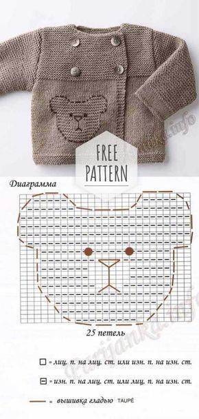 Newborn Cardigan Free Pattern