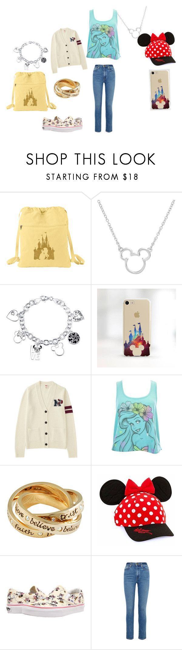"""Disneyland park day"" by ellie-may346 on Polyvore featuring Disney, Uniqlo, Disney Couture, Vans and Khaite"