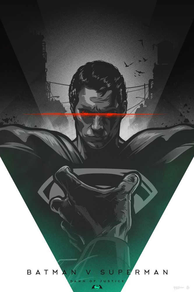 Batman vs Superman: Dawn of Justice - Created by Paul Ainsworth Part of the Poster Posse's design showcase, you can see more pieces from their feature here!