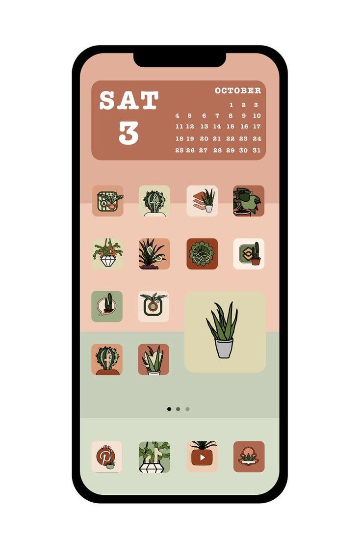 House Plant iOS 21 App Icons   Cute iPhone iOS 21 App Icons ...