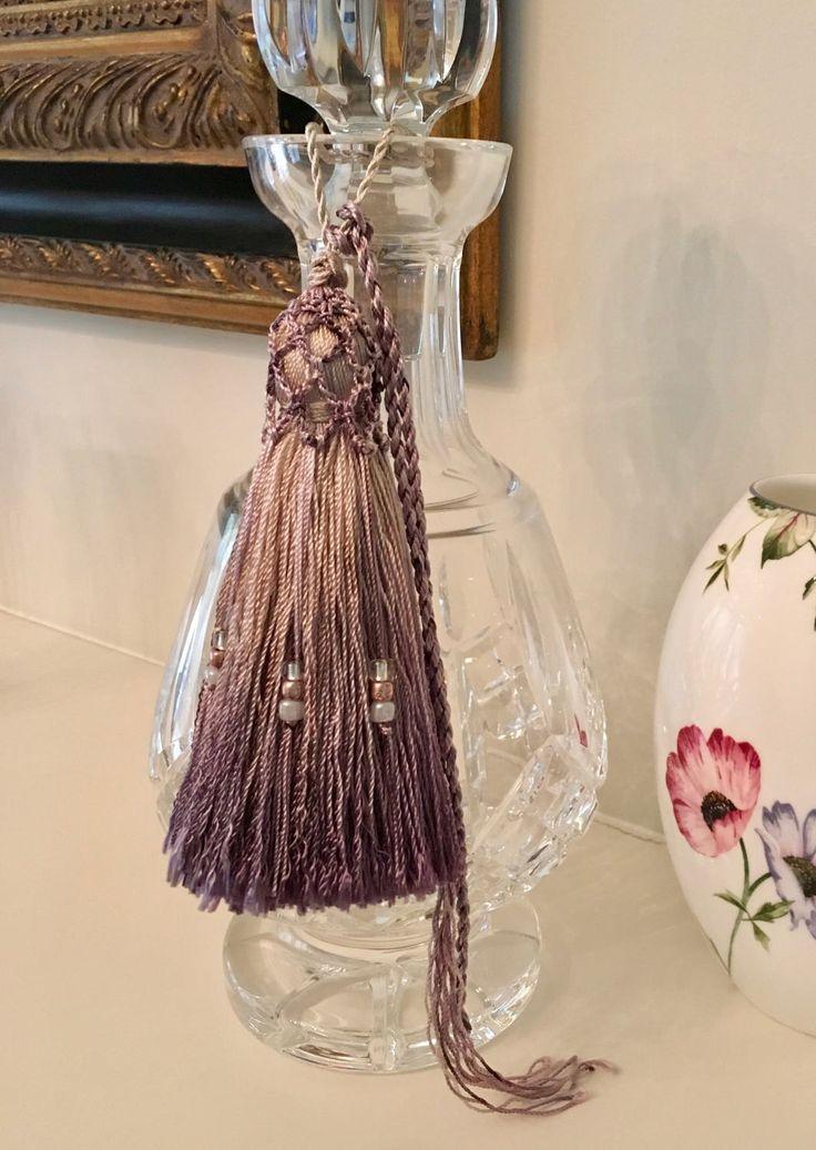 Tassel - Trims & Tassels - Charm - Key Tag Tassel - Decanter Tassel - Candle Tassel - Hand Crochet - Tassel Pillow Trim - Australian Seller by Garnetfleuri on Etsy