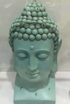 Turquoise Buddha Head 60cm high x 25cm wide approx