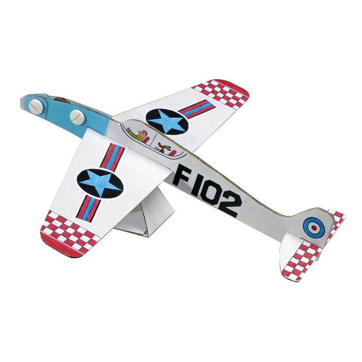 Create your own bright and colourful aeroplanes with this Mes Z'Avions craft set from French company Mitik. These fabulous aeroplane models are made from recycled cardboard. They are pre-cut and folded and easily assembled with no need for scissors or glue. Sheets of stickers are provided for decoration and then the fun of flying begins.... Mes Z'Avions makes a perfect gift for children aged from 7 upwards. Also makes a super party activity - whose plane will fly the furthest?
