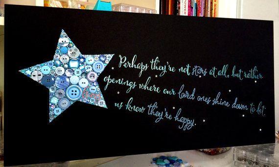 Schaltfläche Art Shooting Star mit von BellePapiers auf Etsy