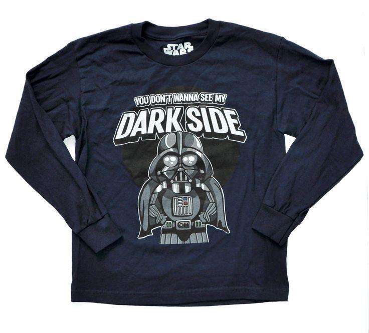 Boys Darth Vader Blue Long Sleeve T-Shirt