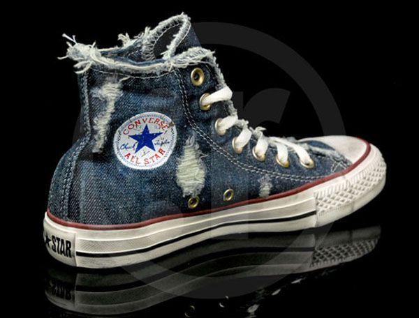 converse-chuck taylor all star denim-distressed