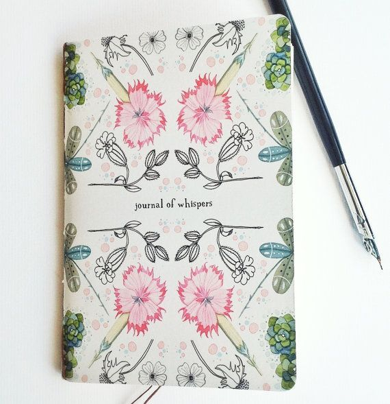 Journal of Whispers by LilyMoon on Etsy, $10.50