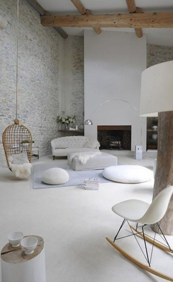 Oh So Lovely Vintage: Interior inspiration: Mixing textures.