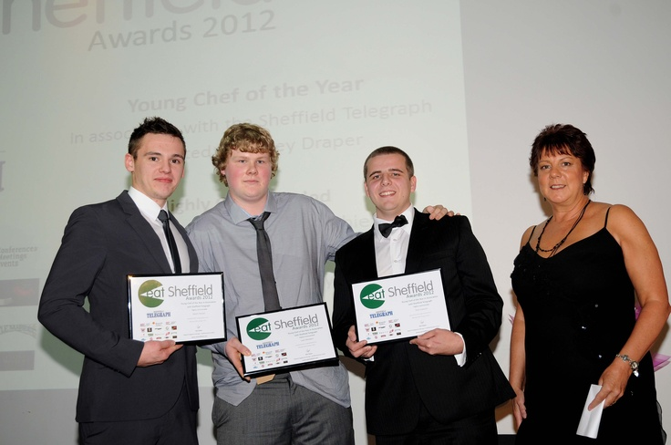 Young Chef of the Year in Association with Sheffield Telegraph  Adam Harper, the Beauchief; Jack Windsor, the Cross Scythes; Tom Lawson, the Devonshire Arms Middle Handley ...all need watching, they're good! Presented by Lesley Draper