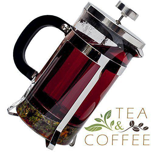 Pyora French Press Coffee and Tea Maker 34 Ounce, Stainless Steel - http://teacoffeestore.com/pyora-french-press-coffee-and-tea-maker-34-ounce-stainless-steel/