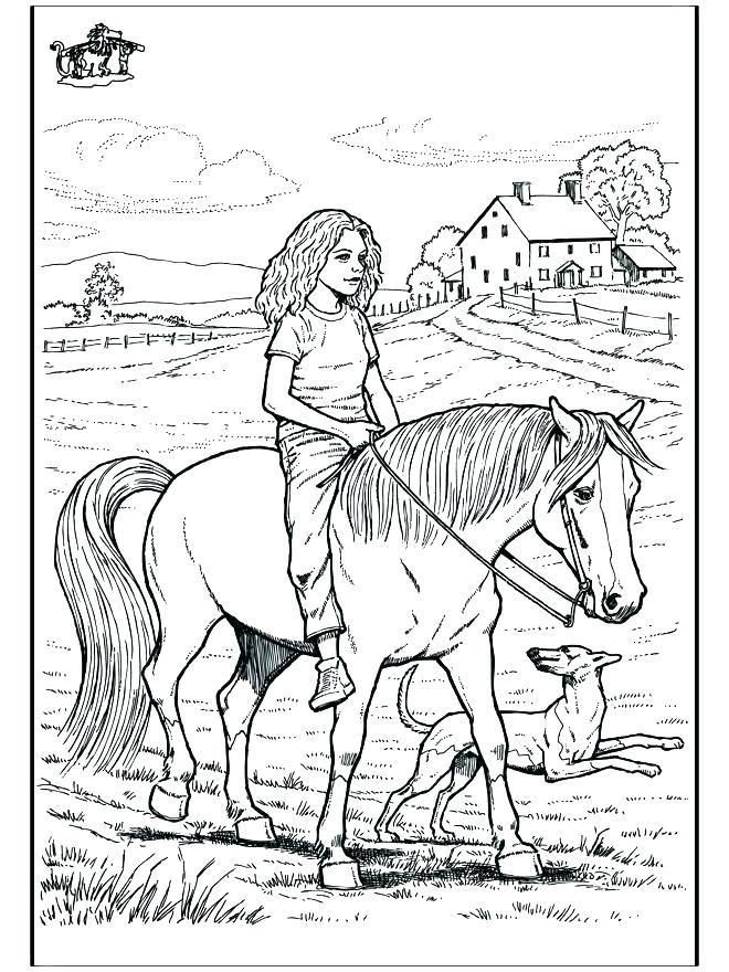 Horse And Rider Coloring Page Youngandtae Com Horse Drawings Horse Coloring Pages Easy Drawings
