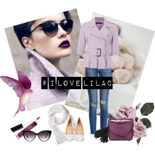 I Love Lilac by miqua on Polyvore featuring Mode, French Connection, Paige Denim, Christian Louboutin, Burberry, Mulberry, Banana Republic and Eloquii