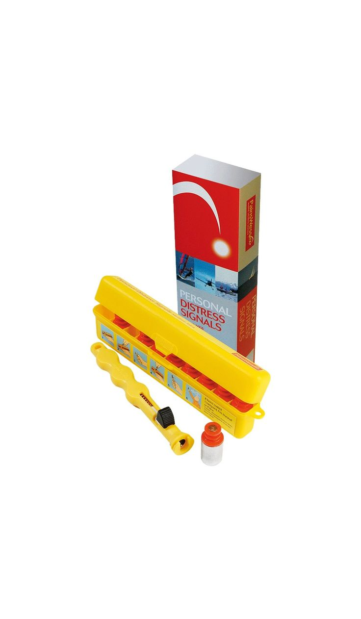 Personal Distress Signal | Code 9556650 Pains Wessex Personal Distress Signals pack contains 9 red aerial flare cartridges and a penjector firing mechanism, all enclosed in a tough, water-resistant case. The penjector is fitted with a stainless-steel spring and striker pin. It features a slot for easy loading and unloading of the flare cartridge with the trigger in the safety catch position.