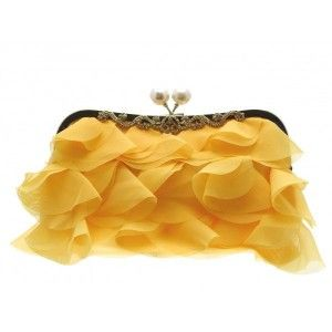 This cute #yellow #gold #clutch #bag has a secure fastening and can be hand held, or worn over the shoulder - See more at: http://myeveningdress.co.uk/clutch-bags/1702-yellow-gold-petal-clutch-bag.html#sthash.VM4cKaGH.dpuf
