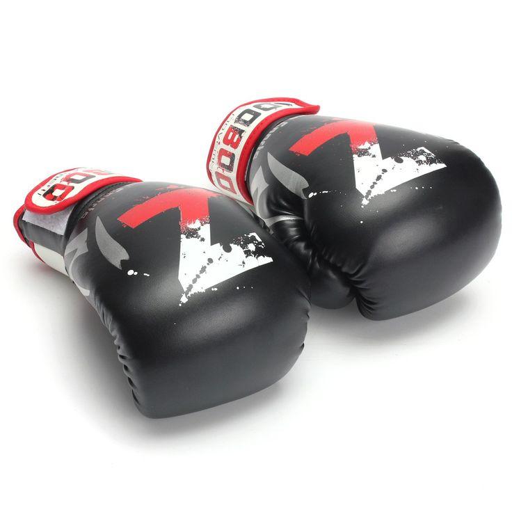Check Discount 10 OZ MMA Muay Thai Boxing Punching Gloves MMA Training PU Leather Boxing Pads Mitt Fighting Kick Sports Gloves #Muay #Thai #Boxing #Punching #Gloves #Training #Leather #Pads #Mitt #Fighting #Kick #Sports