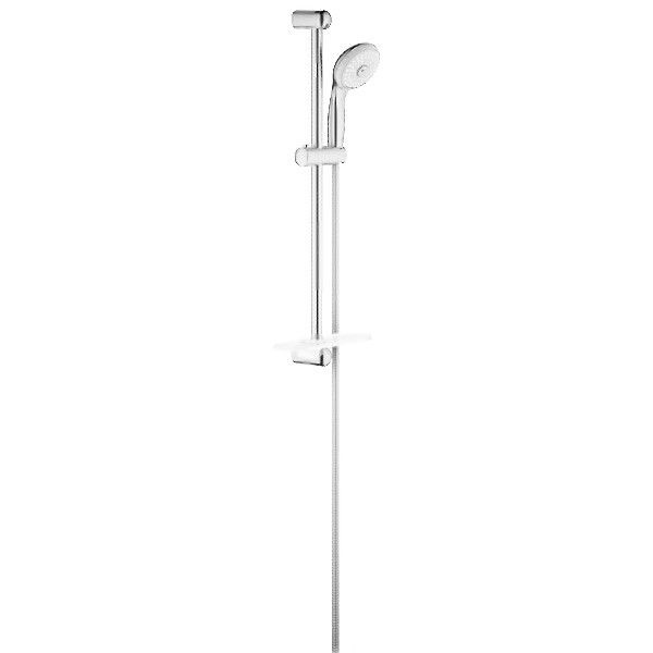 Allen Roth 3 Light Vallymede Brushed Nickel Bathroom Vanity Light Item 759828 Model B10021: Grohe 28436EN1 Brushed Nickel New Tempesta Multi-Function