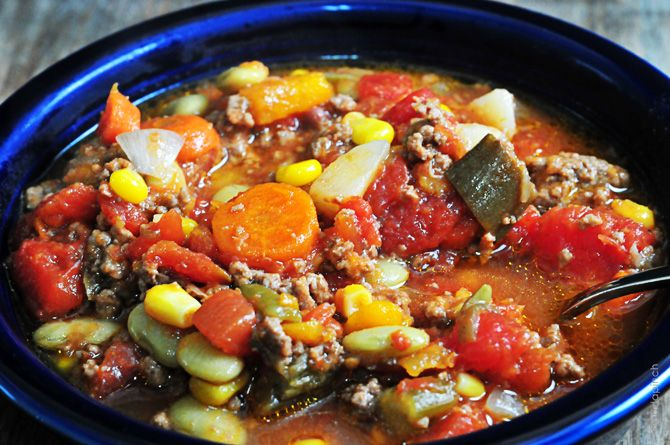 Slow Cooker Vegetable Soup Recipe - Cooking | Add a Pinch | Robyn Stone