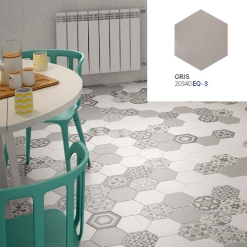 12 best hexagonal tile images on pinterest porcelain for Carrelage style tomette