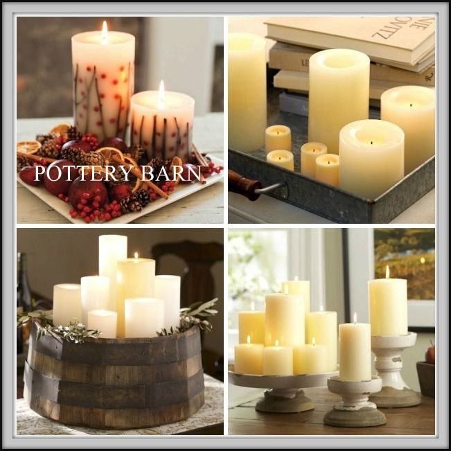 16 best images about dining room table centerpiece ideas for Candle dining room centerpieces