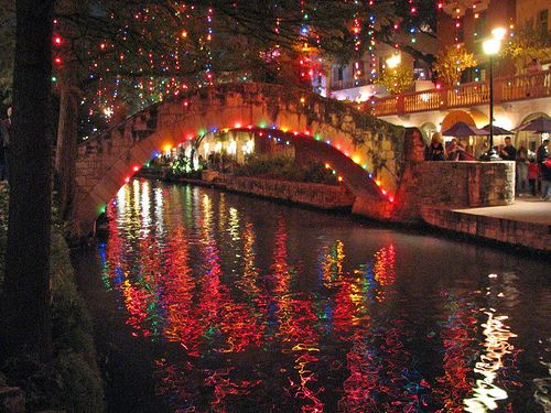 love the San Antonio Riverwalk at Christmas!