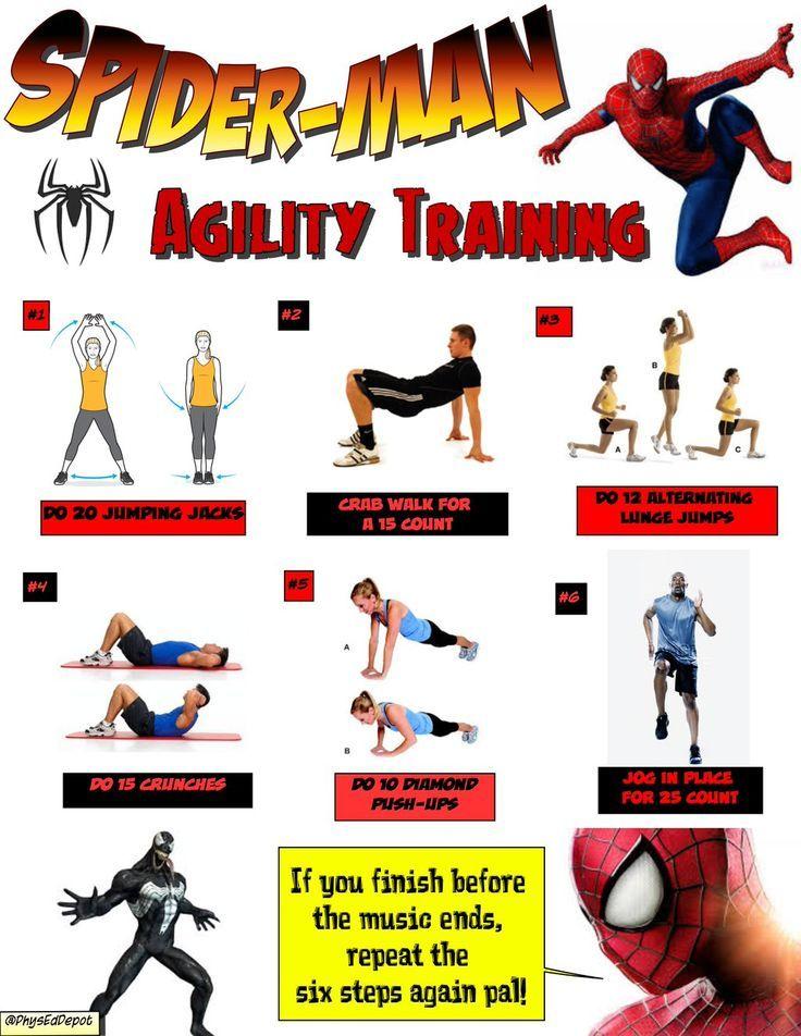 Spiderman Agility Training!
