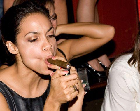 Cigar smoking porno girl