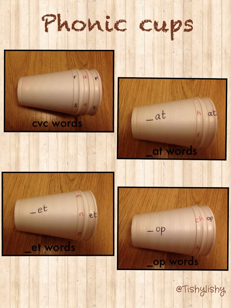 Phonic challenge cups. Polystyrene cups from £shop.