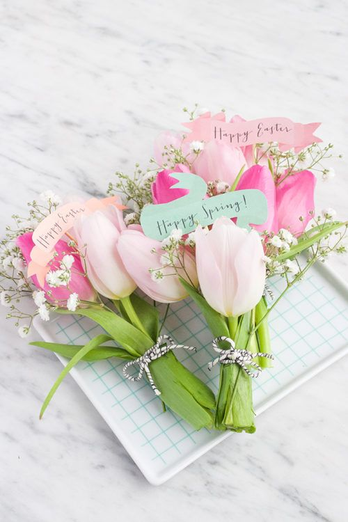 This mini Easter bouquets are precious and perfect for a neighbor, teacher or fr…   – POPULAR on Frugal Coupon Living