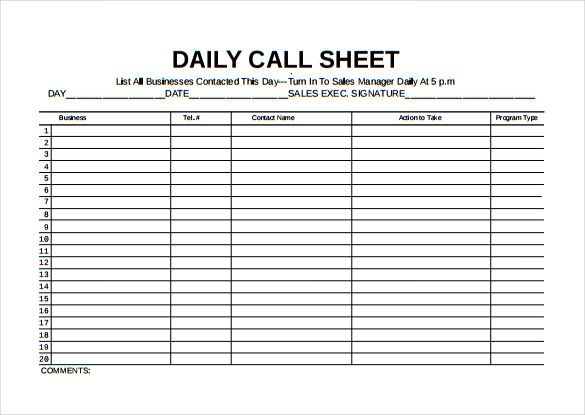 Template Net Call Sheet Template 21 Free Word Pdf Documents Download 27fa3899 Resumesa Daily Planner Template Planner Template Inventory Spreadsheet Templates