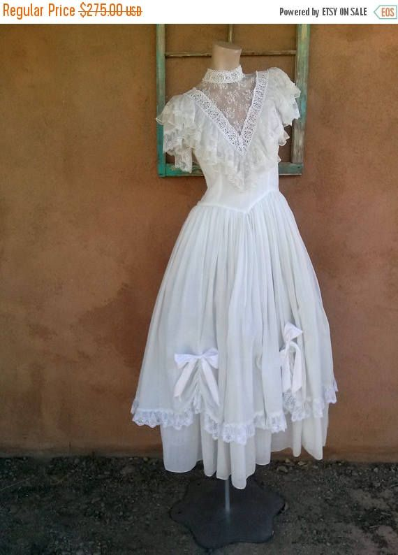 Check out this item in my Etsy shop https://www.etsy.com/listing/253920686/on-sale-vintage-1980s-dress-white-lace