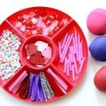 Love Bug Valentine Play Dough. Also has a link to purchase The Homemade Play Dough Recipe Book ebook
