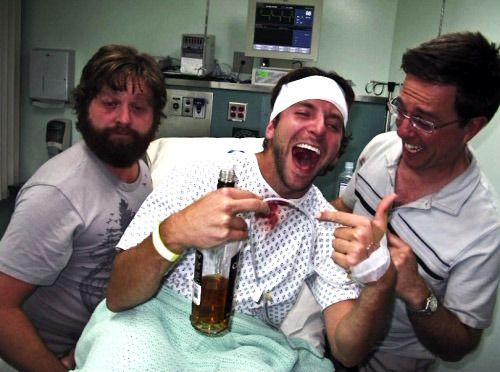 I love Bradley Cooper's face in this picture! (Zach Galifinakis, Bradley Cooper, Ed Helms)
