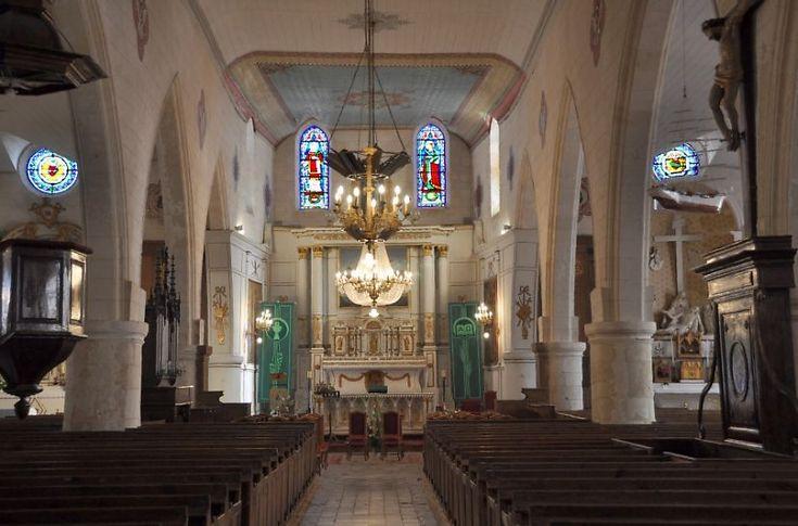 Eglise Sainte-Catherine  à la Flotte-en-Ré, la nef