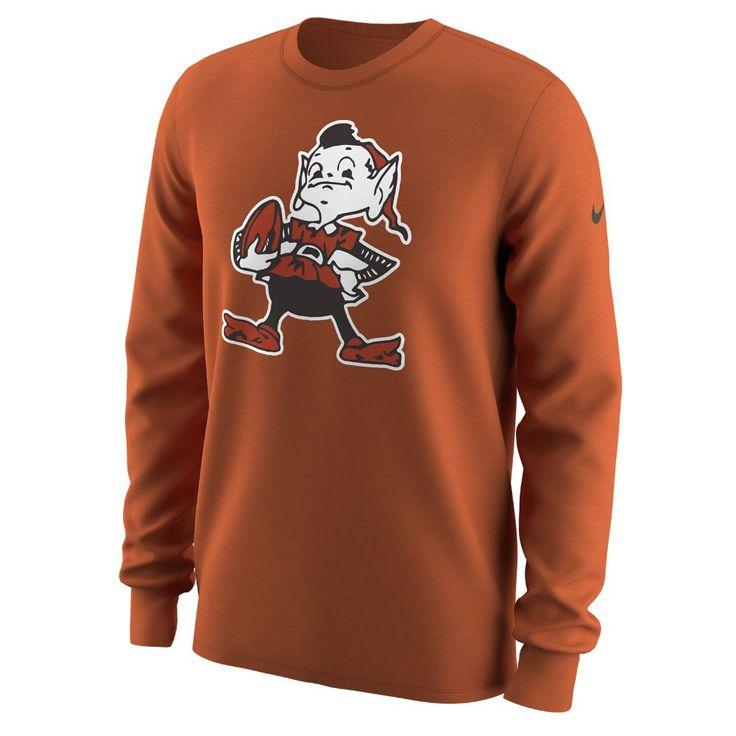 Nike Alternate Logo QS (NFL Browns) Men's Long Sleeve T-Shirt Size
