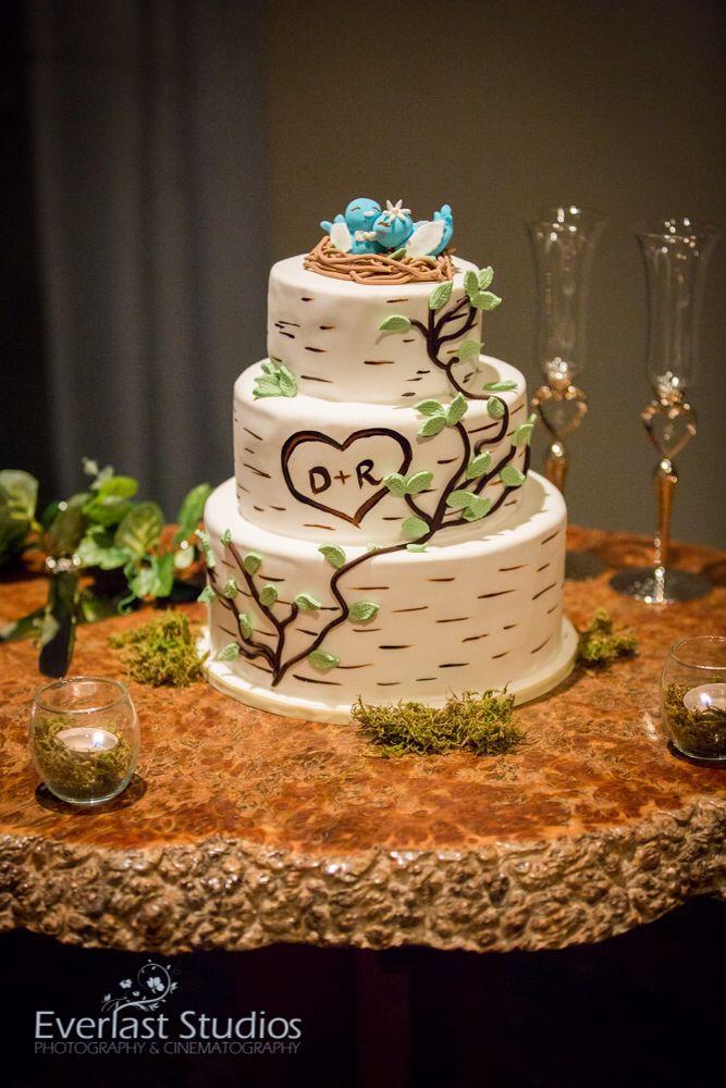 Rainforest wedding-tree inspired wedding cake.