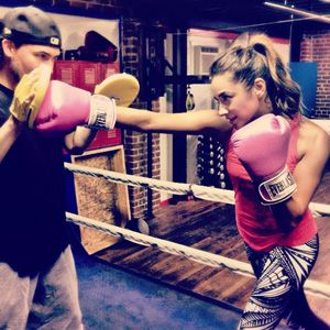 Shay Mitchell Boxed It Out Last Night