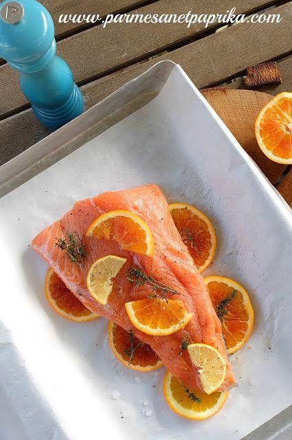 Saumon à l'Orange Sanguine en Papillote